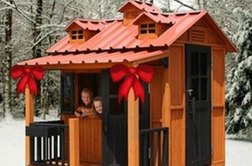 Childhood Obesity Prevention: Entice Outdoor Play With a Vinyl Playhouse